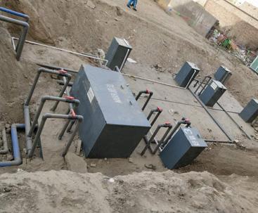生活废水小型污水处理设备安装现场